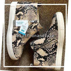 Time and Tru Faux Snakeskin Platform Sneakers